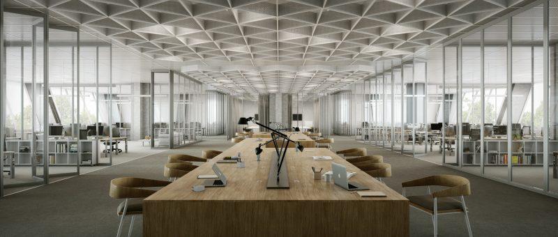 Un nouvel espace de travail imaginé dans la pyramide inversée de Créteil